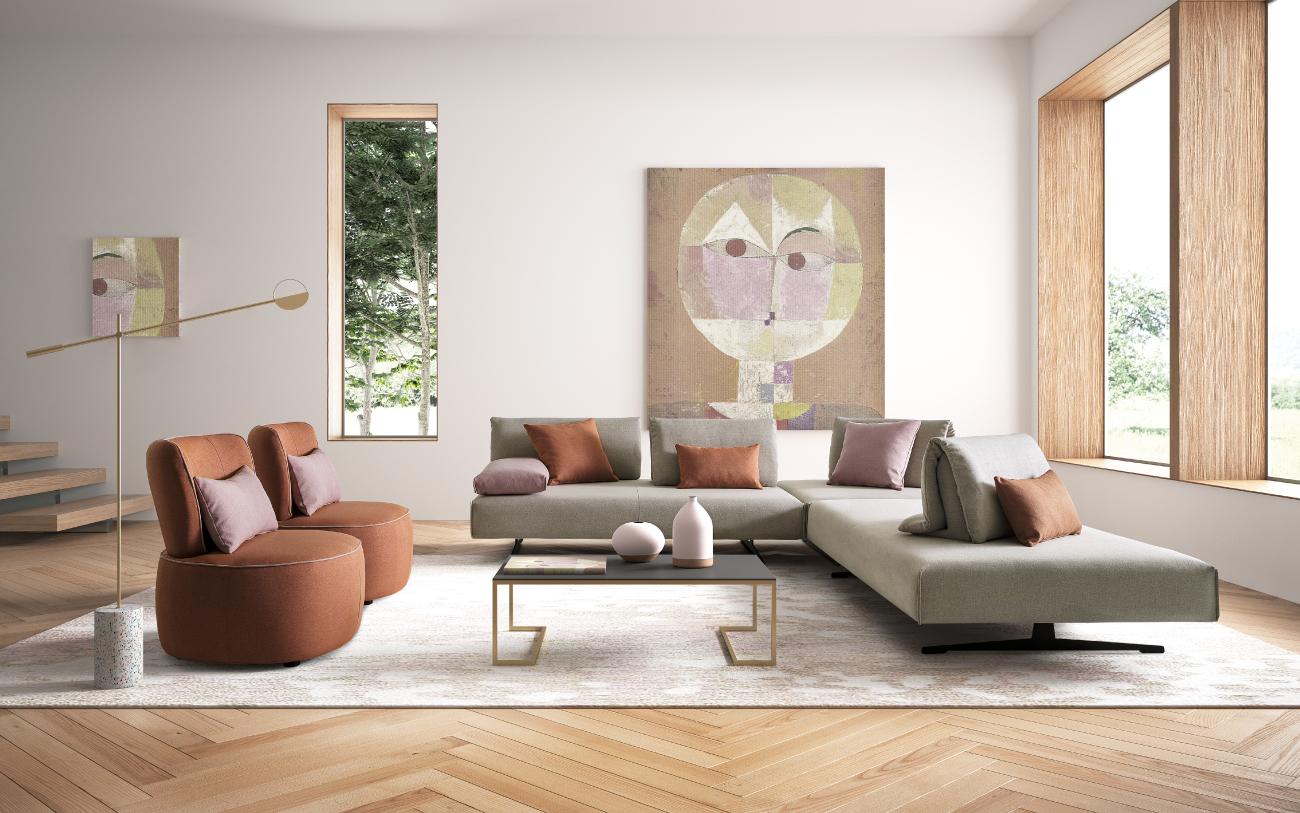 ABBRACCIO divano in tessuto