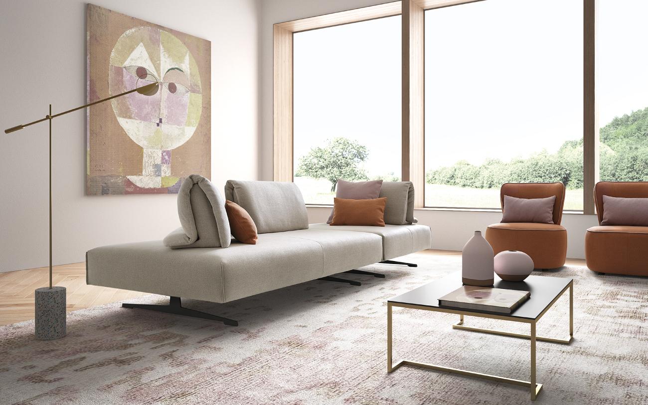 ABBRACCIO divano in tessuto particolare3