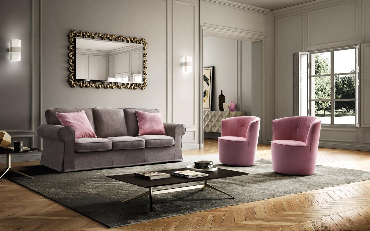 ALBA divano in tessuto 3 posti