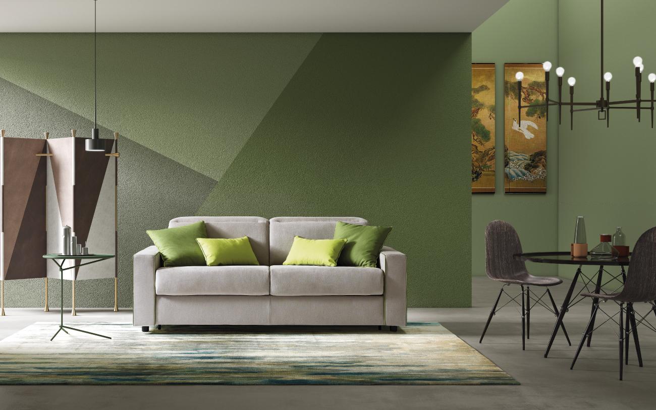 BARBADOS divano letto in tessuto 3 posti maxi