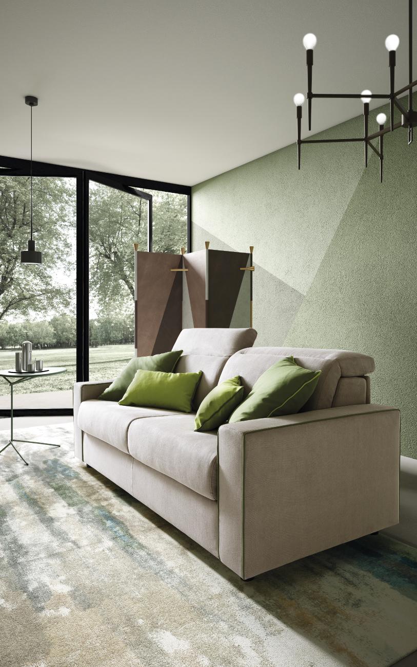 BARBADOS divano letto in tessuto 3 posti maxi particolare2