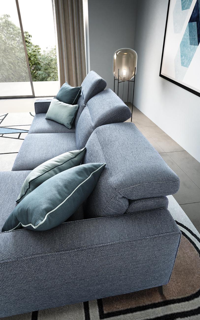 CHRISTOPHER divano in tessuto meccanismo relax particolare1