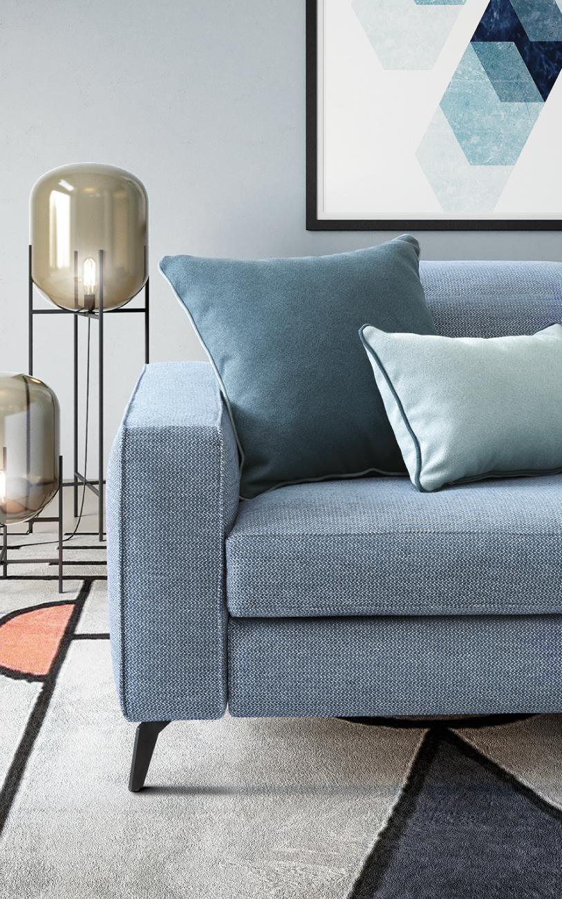 CHRISTOPHER divano in tessuto meccanismo relax particolare2