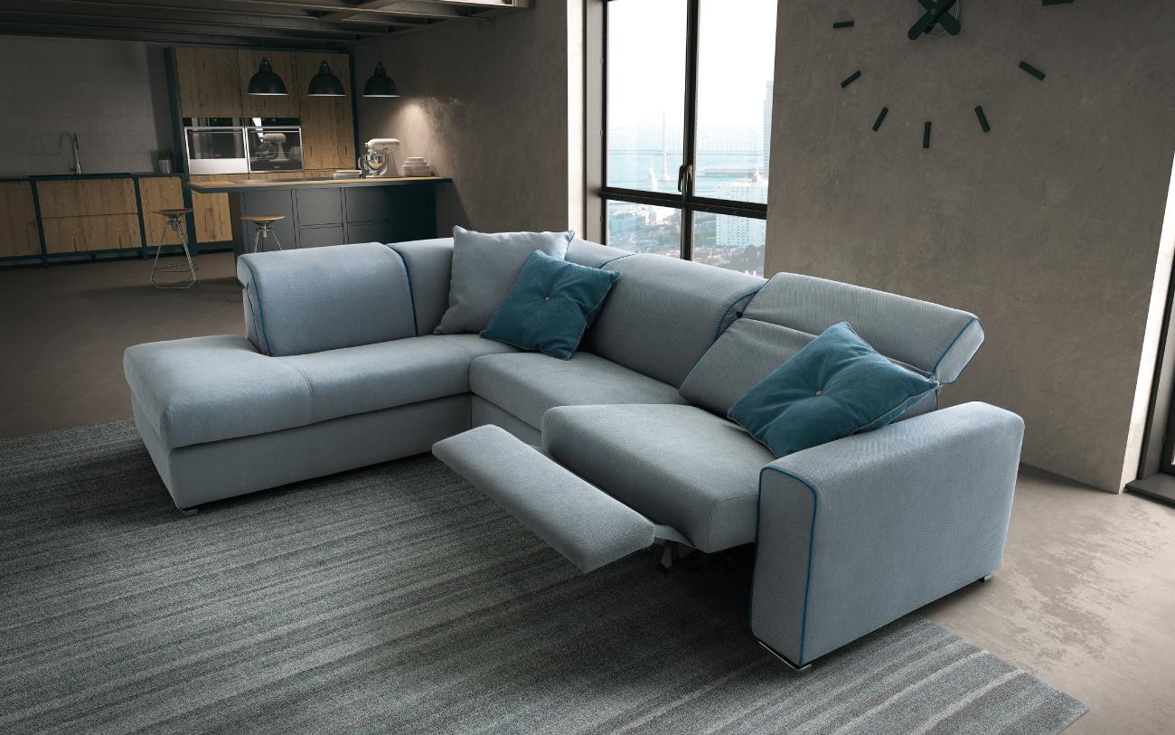 DRIVE divano in tessuto 3 posti laterale angolare meccanismo relax particolare1