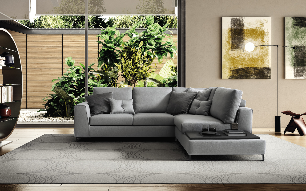 HARMONY divano in tessuto 4 posti