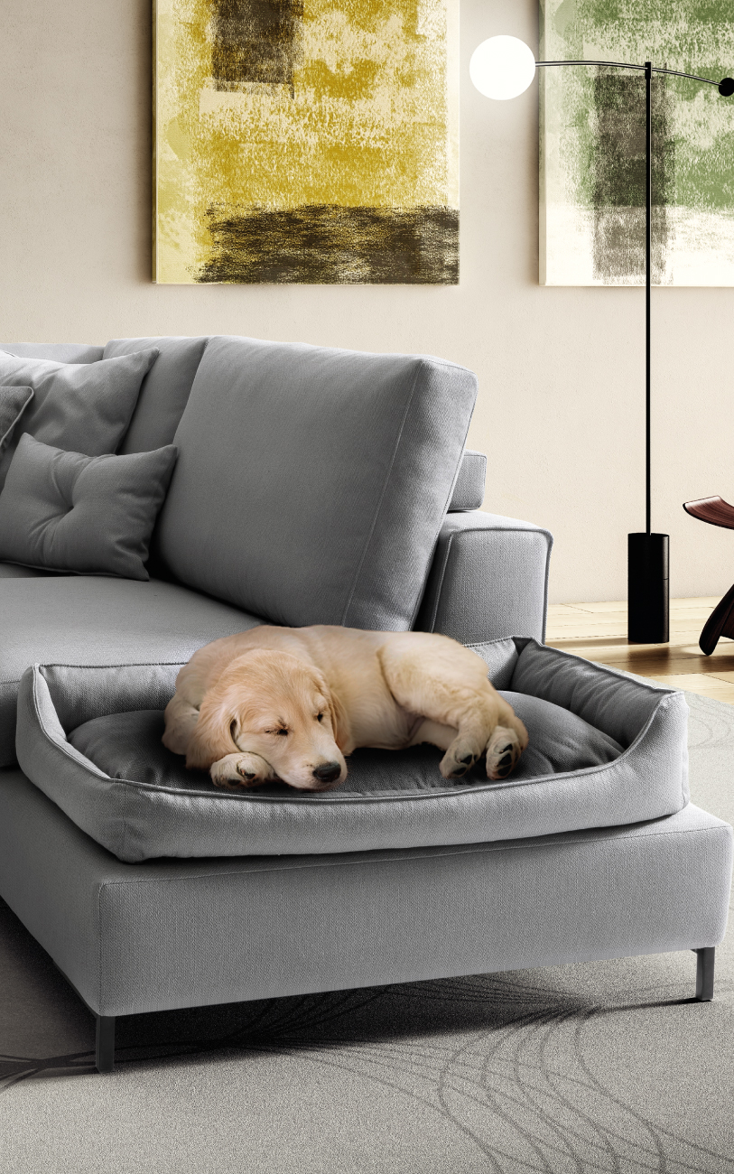HARMONY divano in tessuto 4 posti particolare1