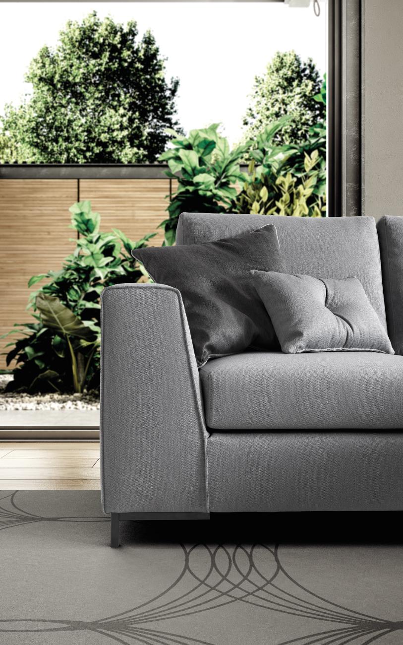 HARMONY divano in tessuto 4 posti_ particolare2