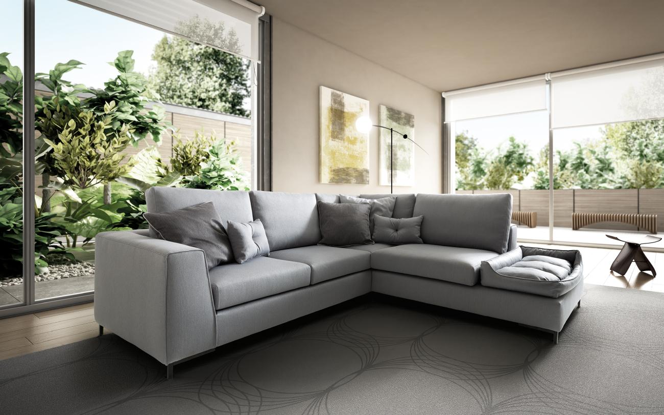HARMONY - divano in tessuto 4 posti particolare3