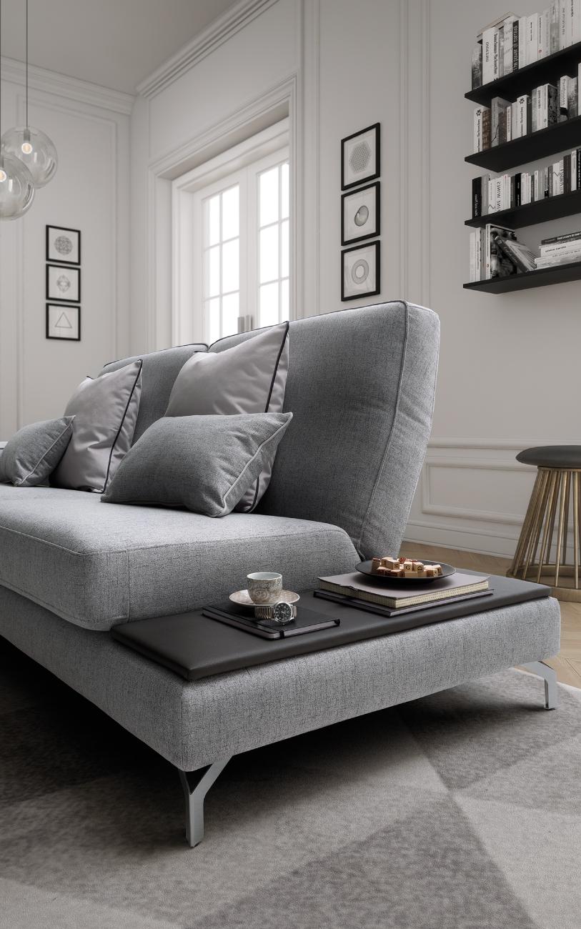 JOHNSON divani in tessuto 3 posti maxi particolare1