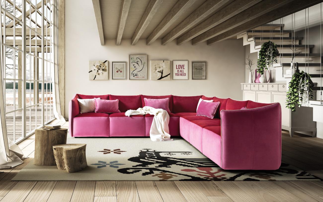 KUBIK divano in tessuto