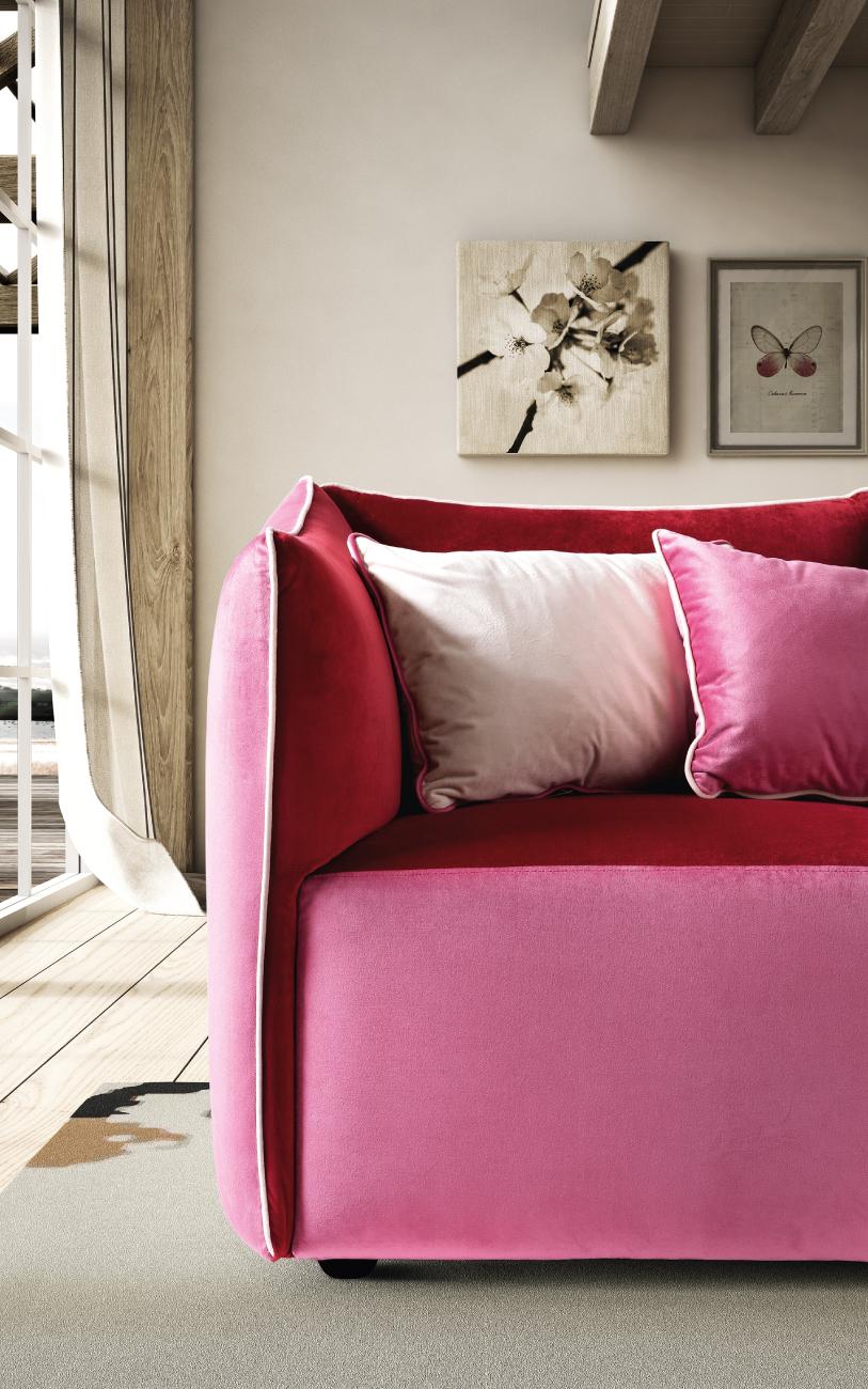 KUBIK divano in tessuto particolare1