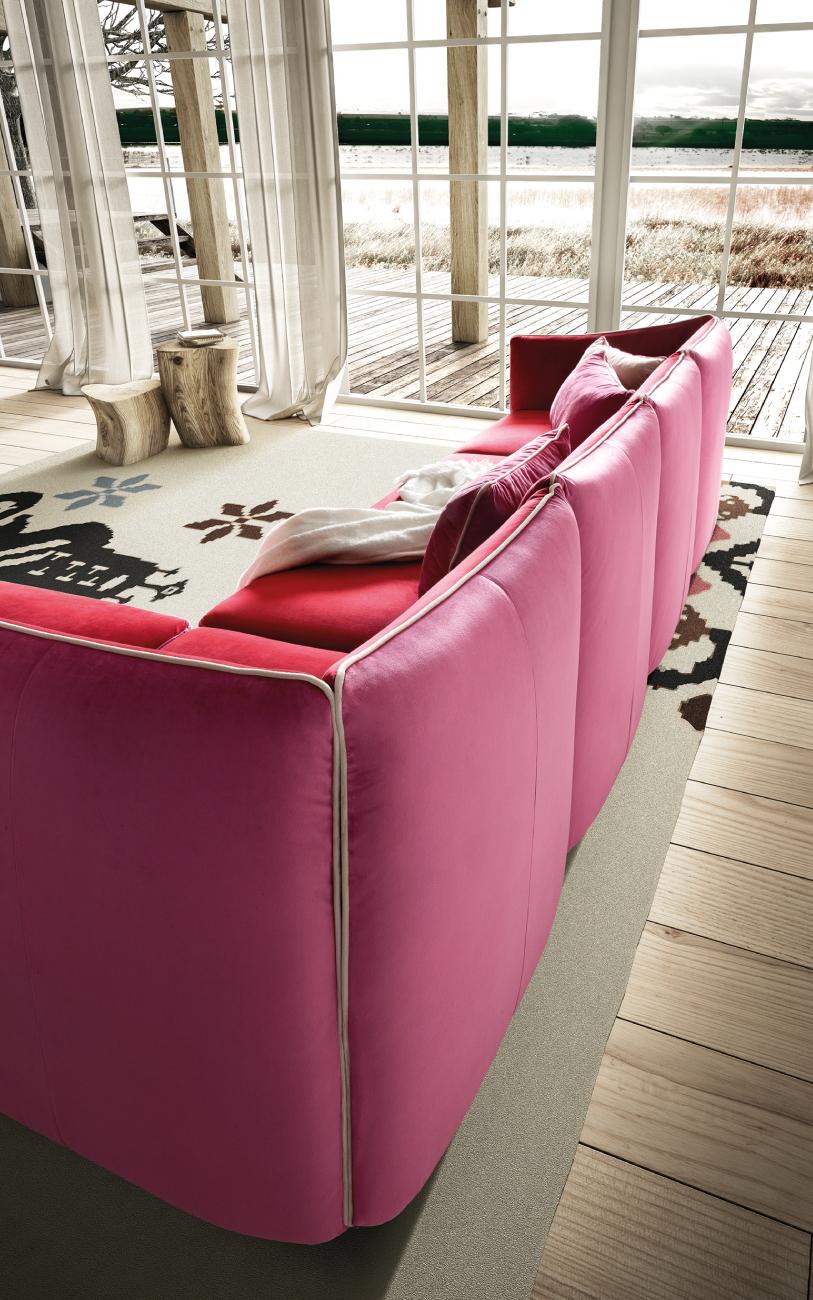 KUBIK divano in tessuto particolare2