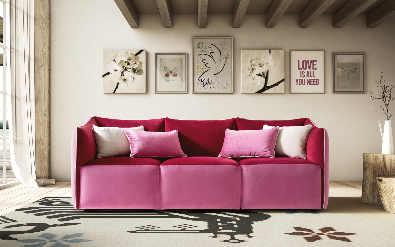 KUBIK divano in tessuto particolare3