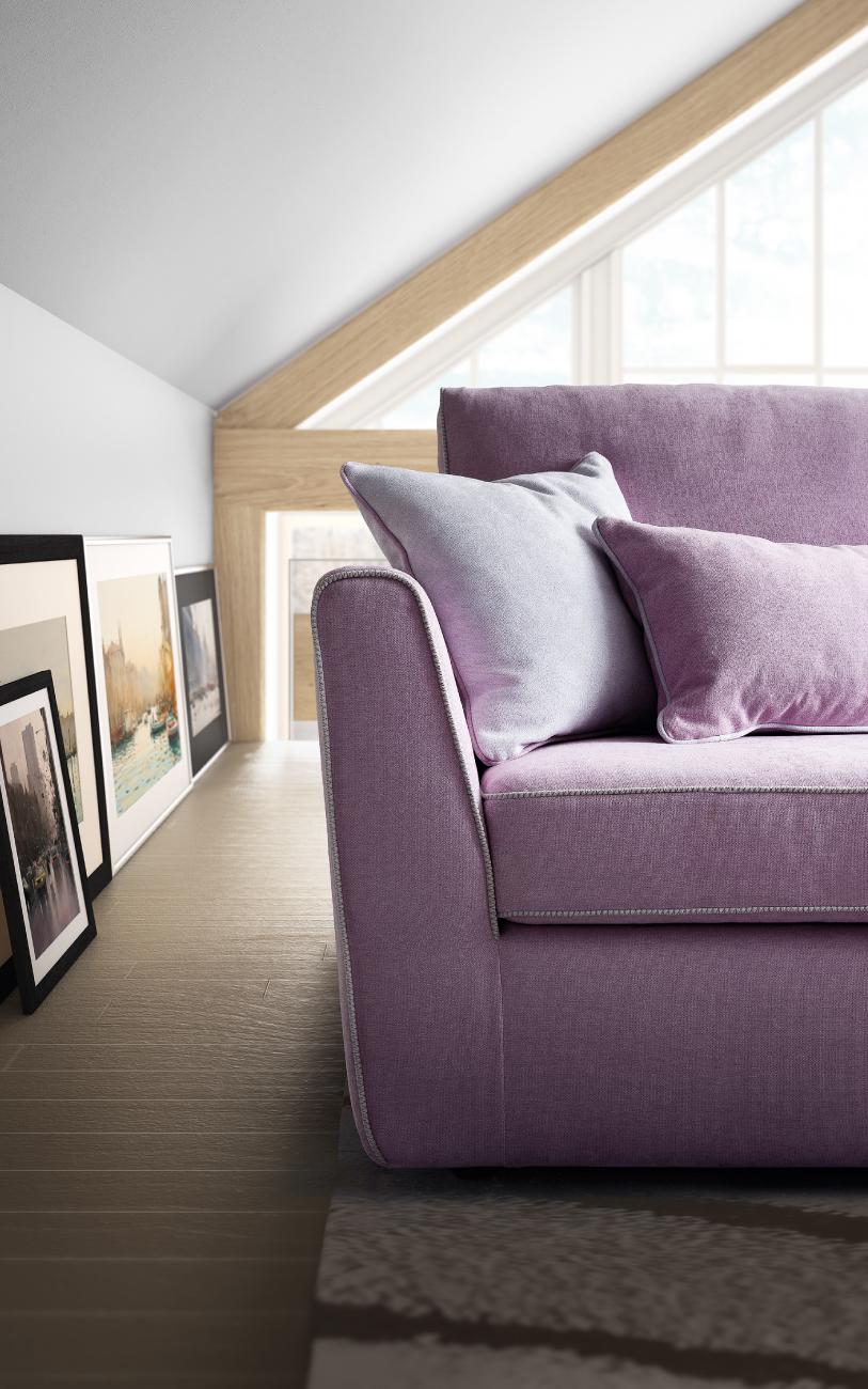 LOLA divano in tessuto 3 posti maxi particolare2