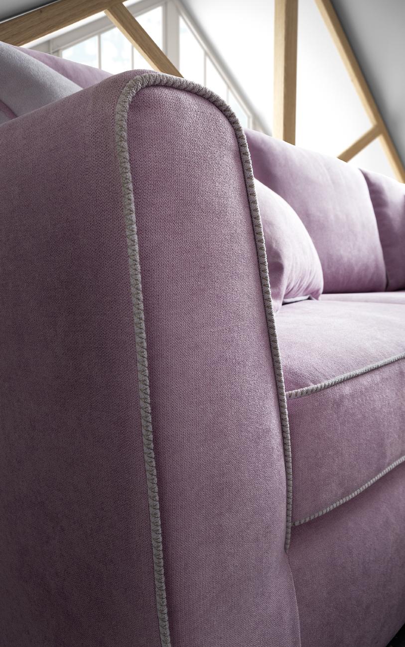 LOLA divano in tessuto 3 posti maxi particolare3