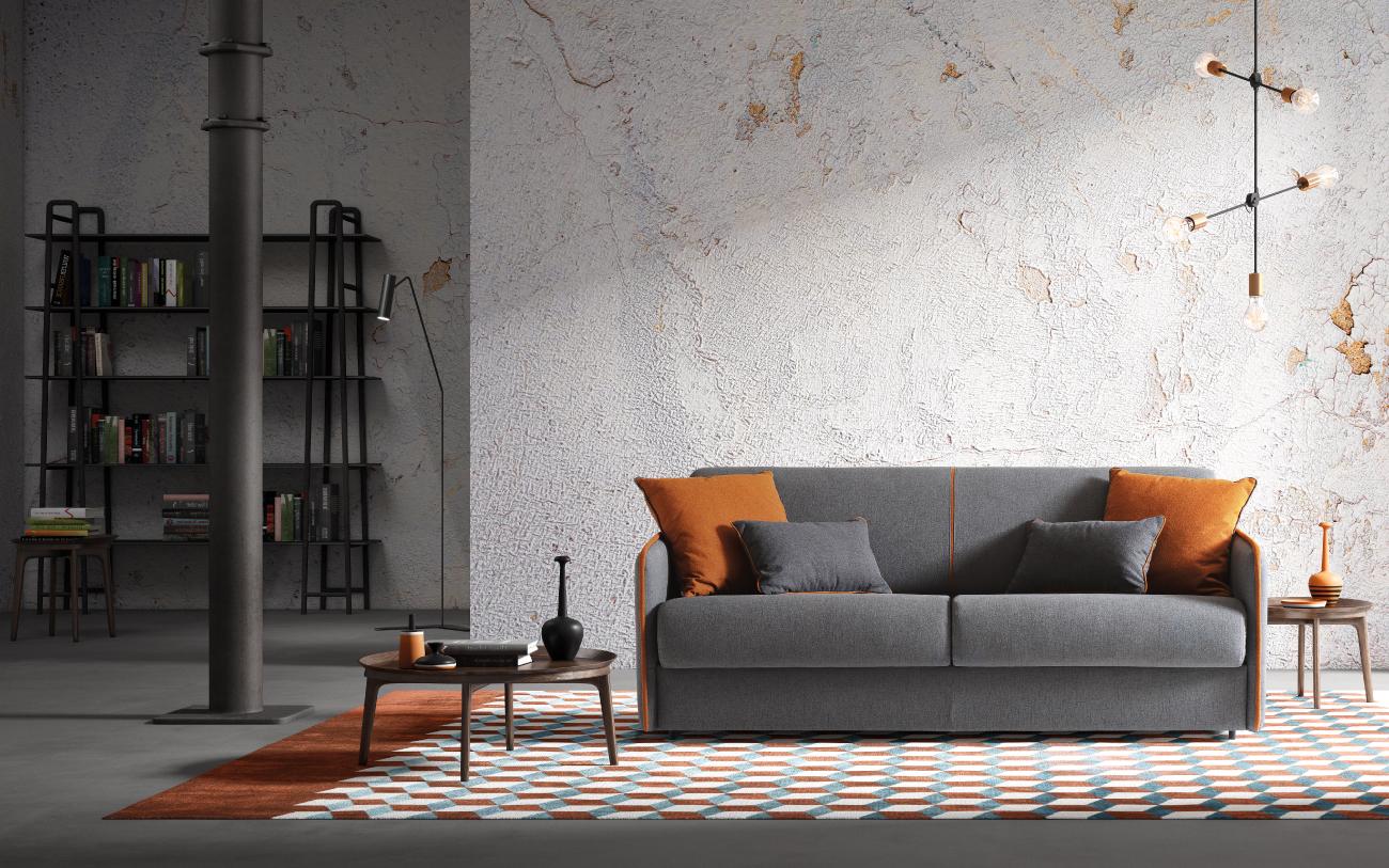 MADEIRA divano letto tessuto 3 posti maxi