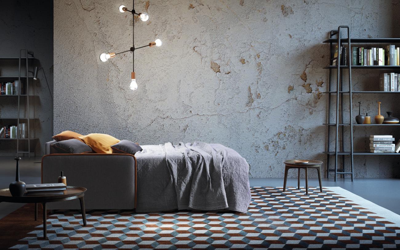 MADEIRA divano letto tessuto 3 posti maxi notturna