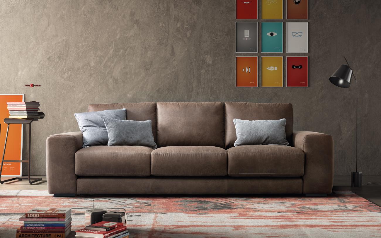 MAXWELL divano in tessuto 3 posti maxi