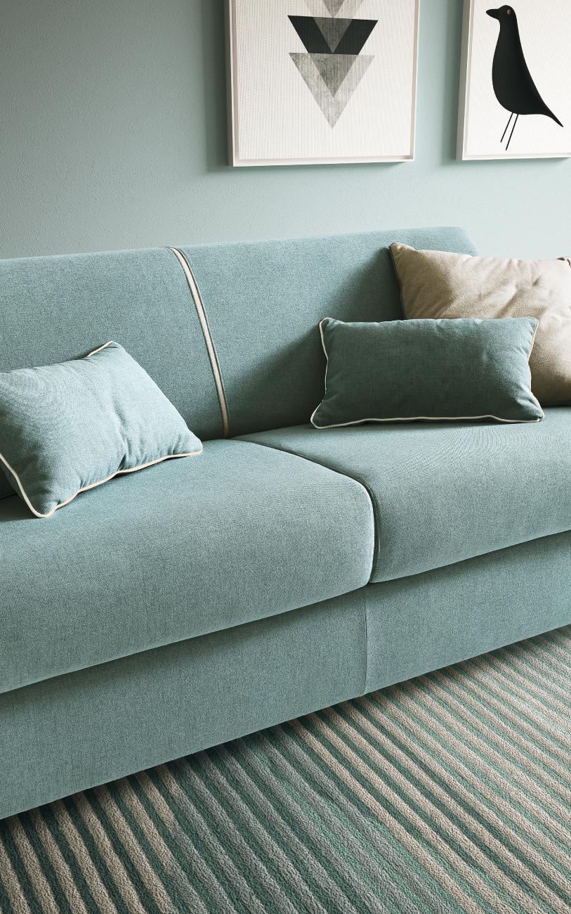 NAXOS divano letto in tessuto 3 posti maxi particolare1