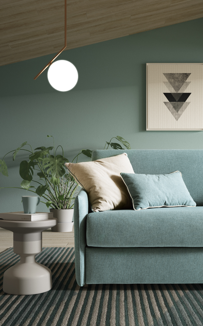 NAXOS divano letto in tessuto 3 posti maxi particolare3