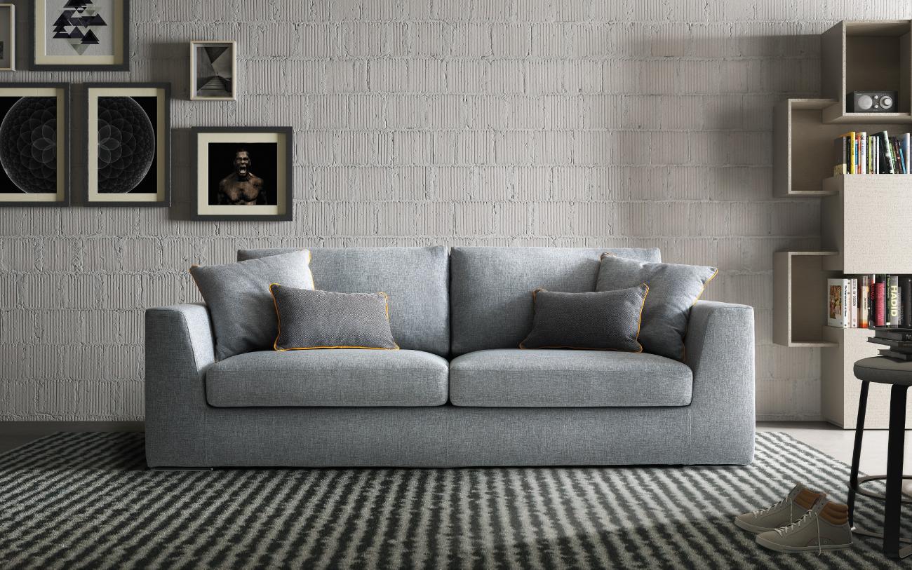 NETTUNO divano in tessuto 2 posti grande