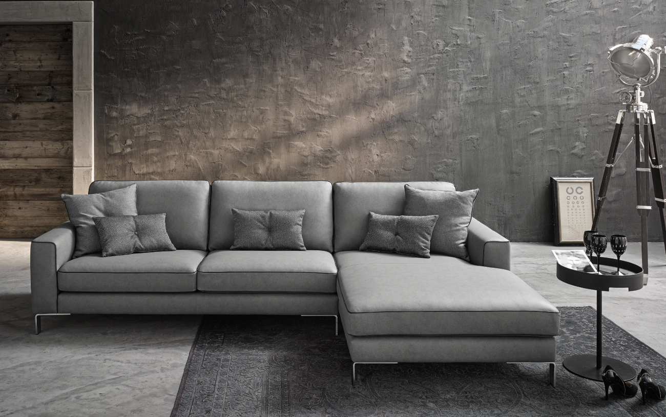 RUSSEL divano in similpelle chaise longue