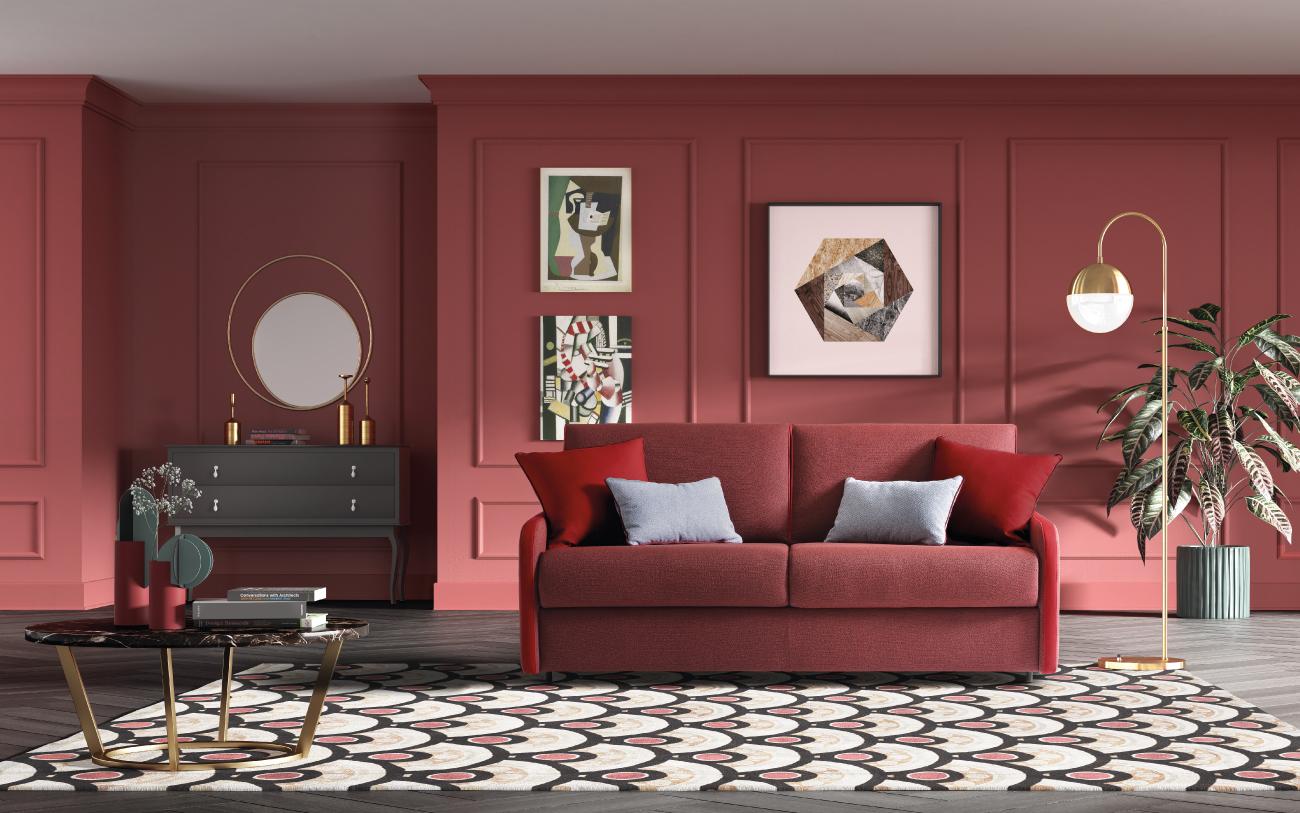SANTORINI divano letto in tessuto 3 posti maxi