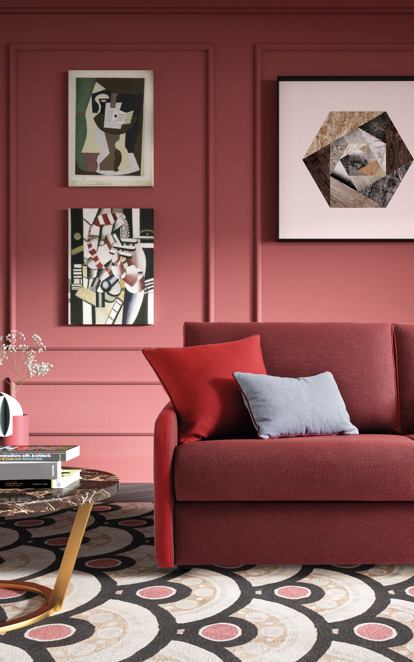 SANTORINI divano letto in tessuto 3 posti maxi particolare1