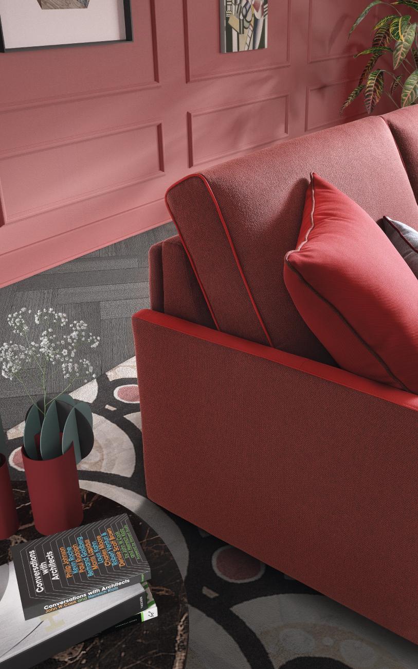 SANTORINI divano letto in tessuto 3 posti maxi particolare2