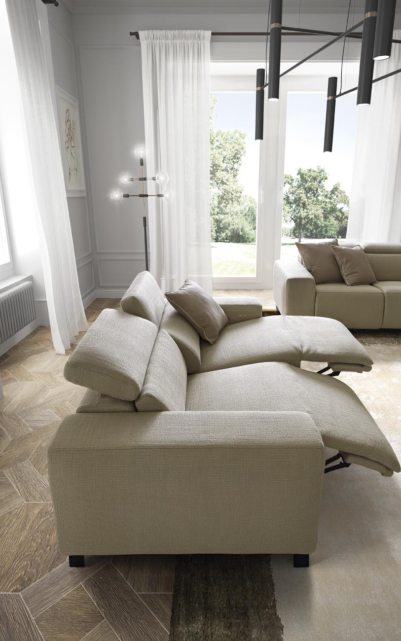 SEBASTIAN divano in tessuto particolare2