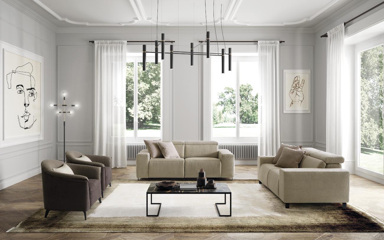 SEBASTIAN divano in tessuto