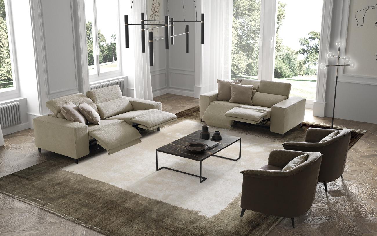 SEBASTIAN divano in tessuto particolare3