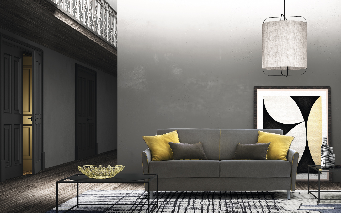 TAHITI divano letto tessuto 3 posti maxi
