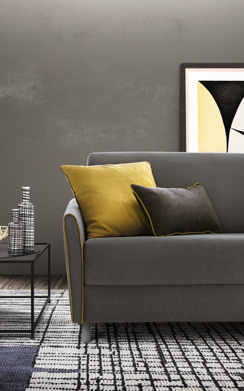 TAHITI divano letto tessuto 3 posti maxi particolare1