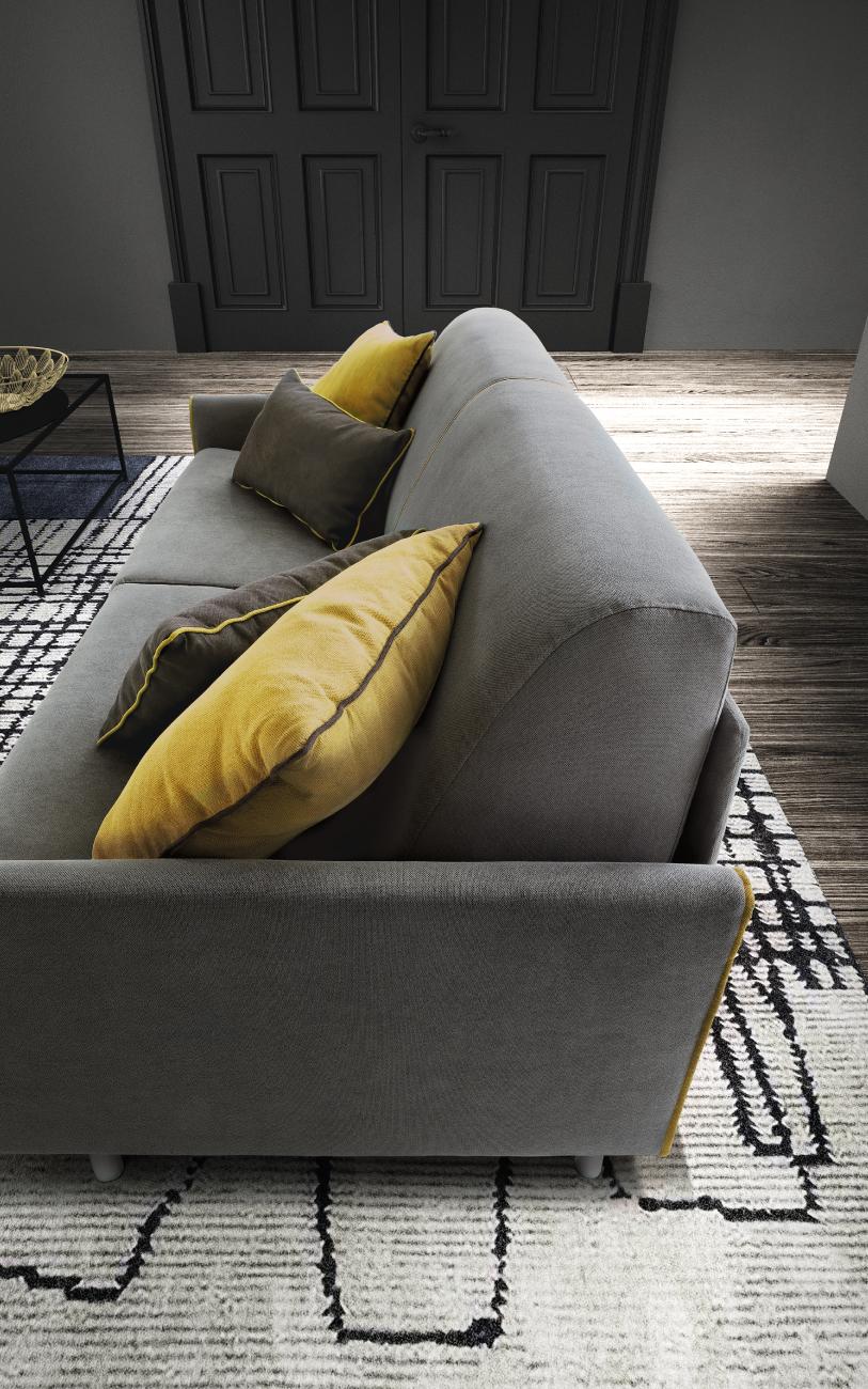 TAHITI divano letto tessuto 3 posti maxi particolare2