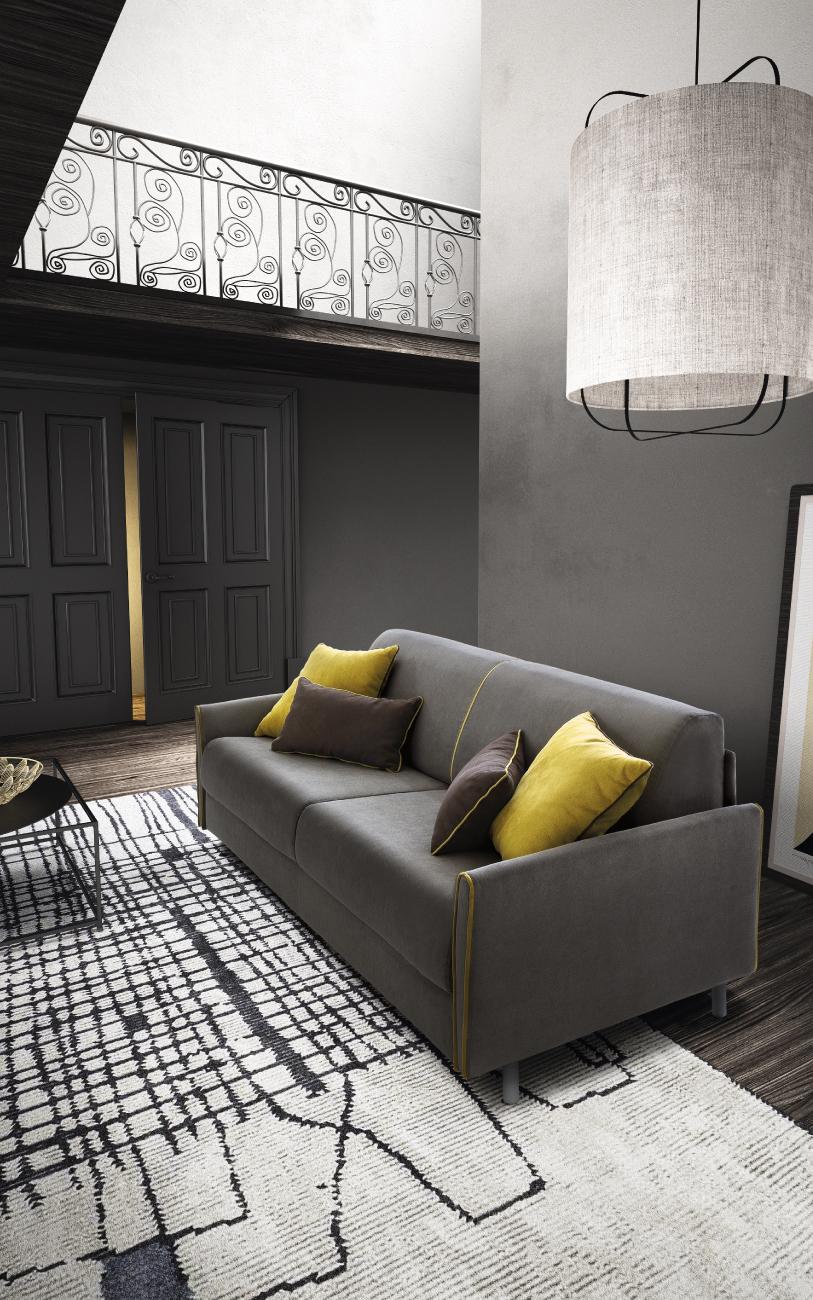 TAHITI divano letto tessuto 3 posti maxi particolare4
