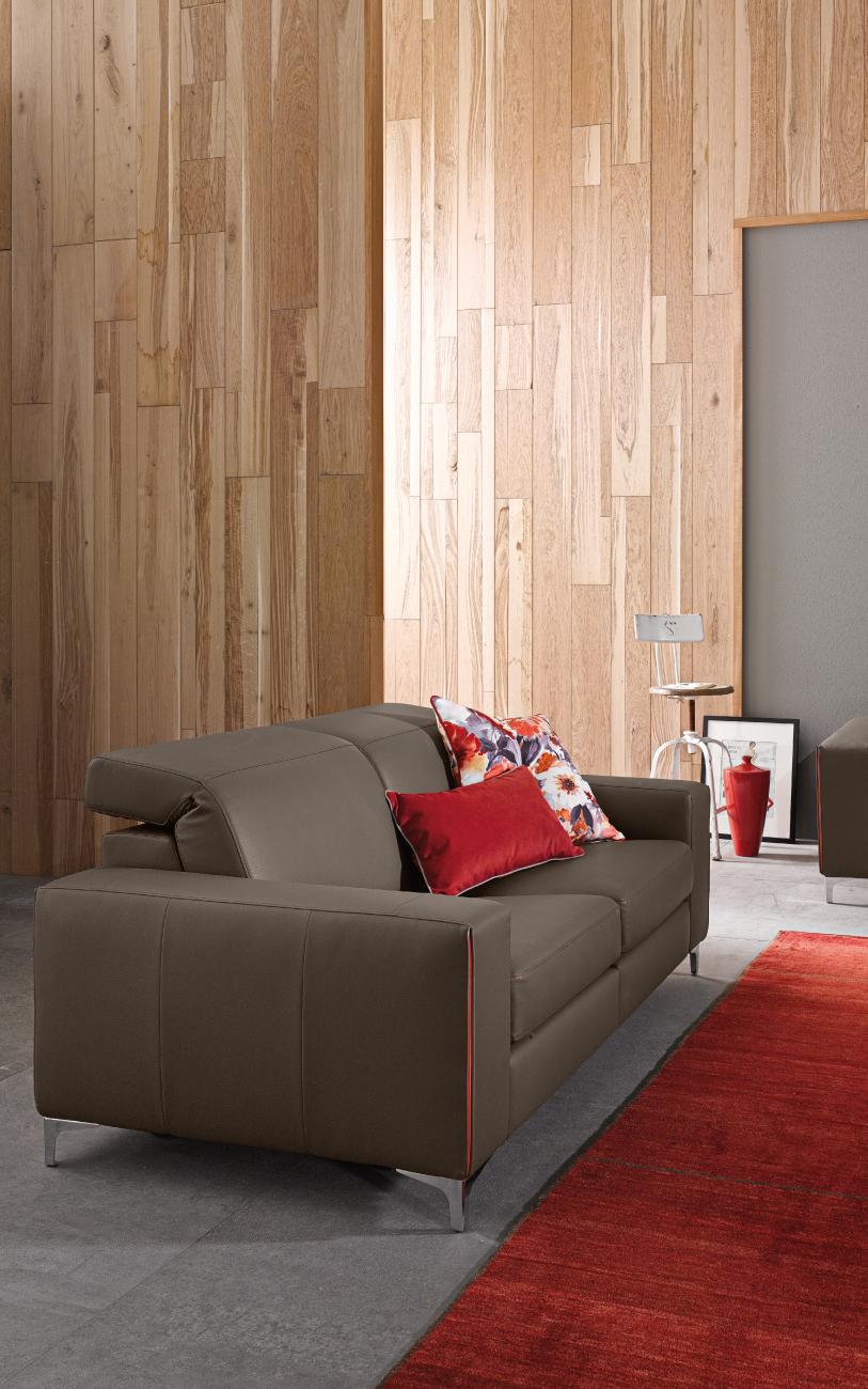 TREVOR divano in pelle 2 posti particolare1