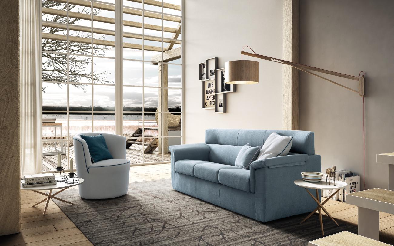 TRICK divano in tessuto 3 posti
