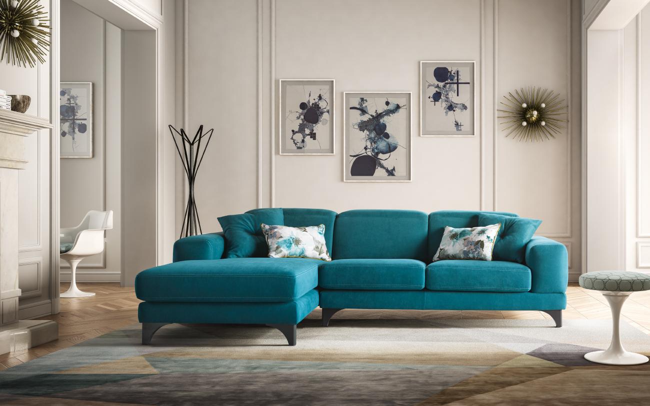 HARVEY divano in tessuto 3 posti harvey