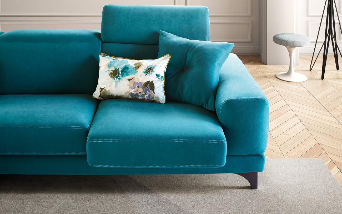 HARVEY divano in tessuto 3 posti particolare2