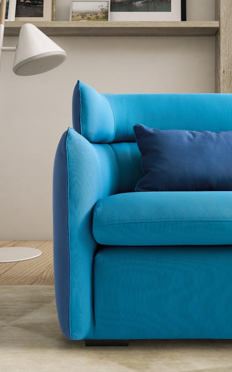 Len divano in tessuto particolare1