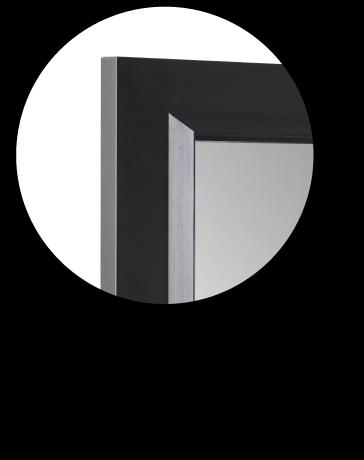 Anta telaio alluminio nero vetro fumé