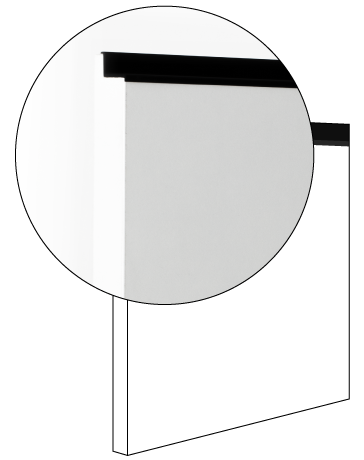 Anta liscia laccata lucida spessore 22 cm