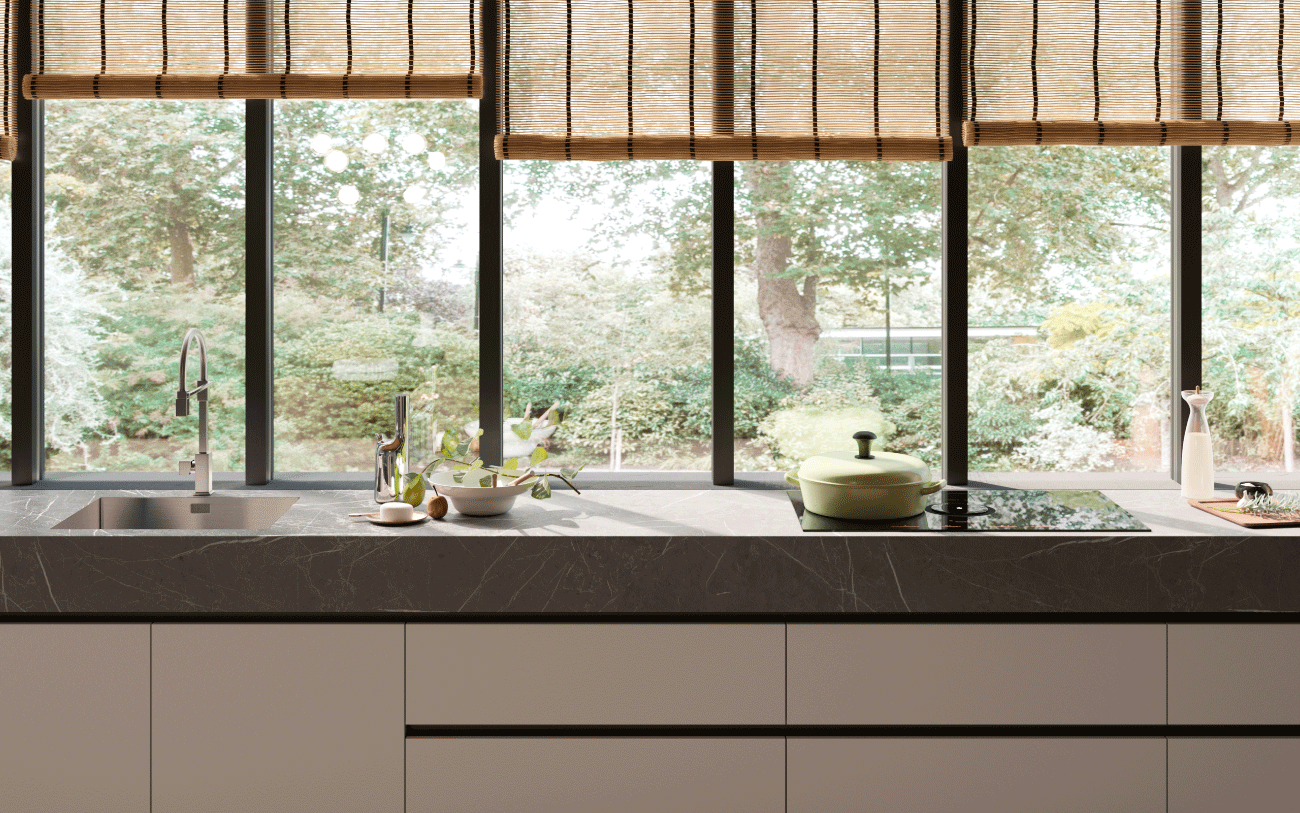 Cucina componibile - cucina due lati particolare piano cottura