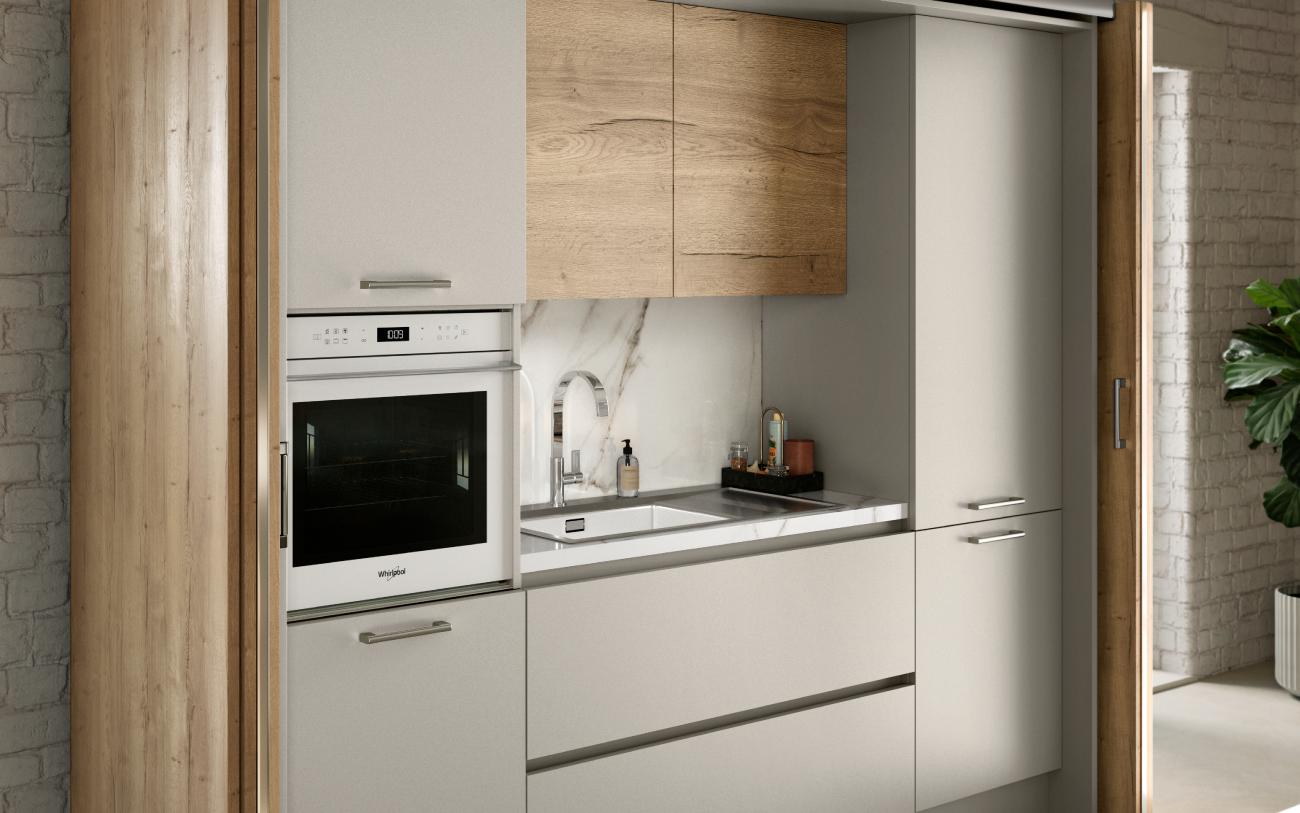 Cucina componibile - Cucina con isola particolare elettrodomestici
