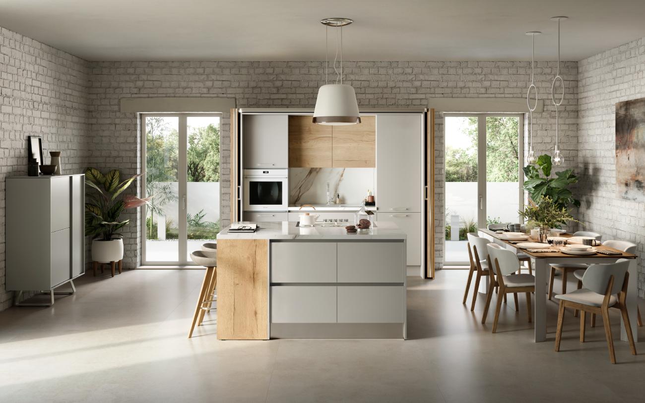 Cucina componibile - Cucina con isola