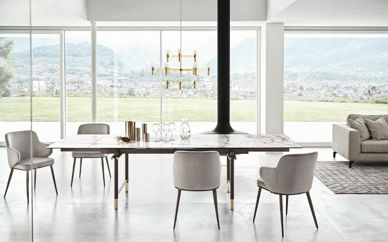 Ufficio in casa - tavolo allungabile Monogram