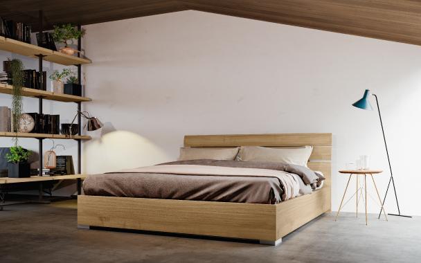 Camera da letto - letto in legno Pesnaercasa