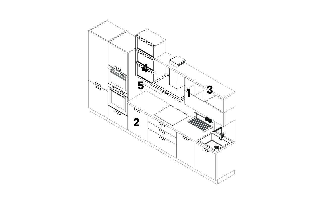 DM0677 - Cucina lineare modello 2D