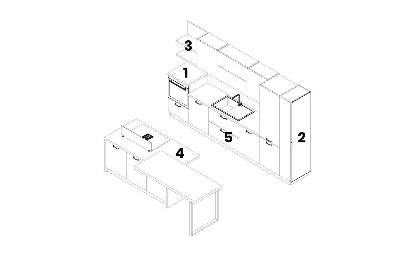 DM0678 - - Cucina con isola modello 2D